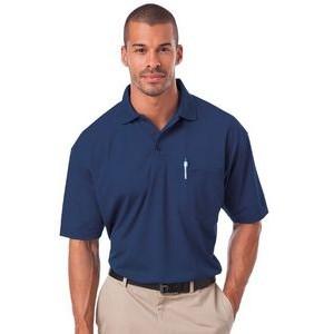 XXX-Large Classic Navy // White Extreme Mens Performance Textured Polo Shirt 85107